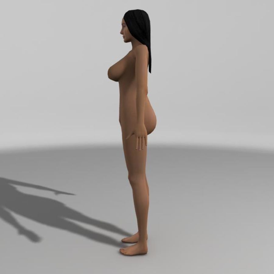 Asian Woman (rigged) royalty-free 3d model - Preview no. 7