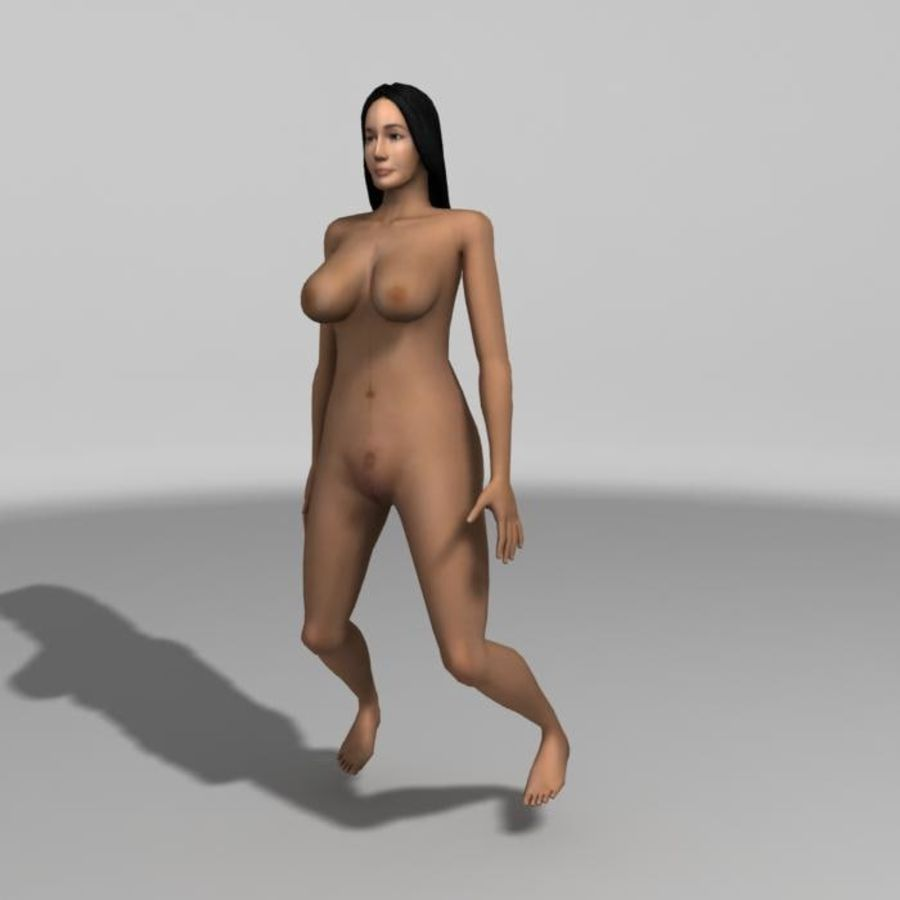 Asian Woman (rigged) royalty-free 3d model - Preview no. 11