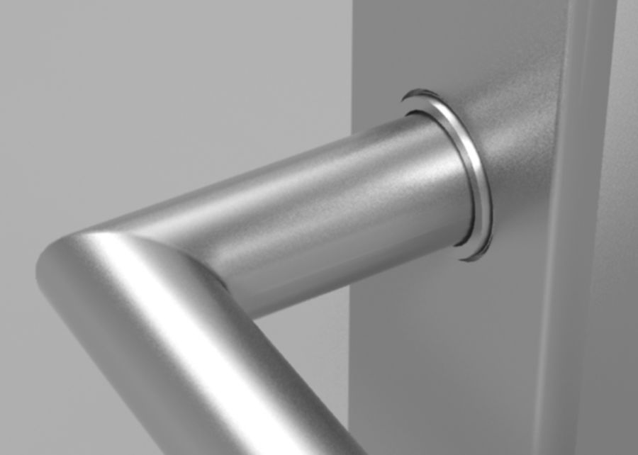 Simple door handle royalty-free 3d model - Preview no. 3