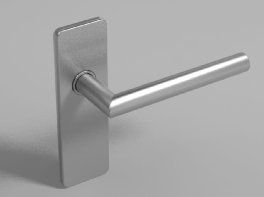 Simple door handle royalty-free 3d model - Preview no. 1