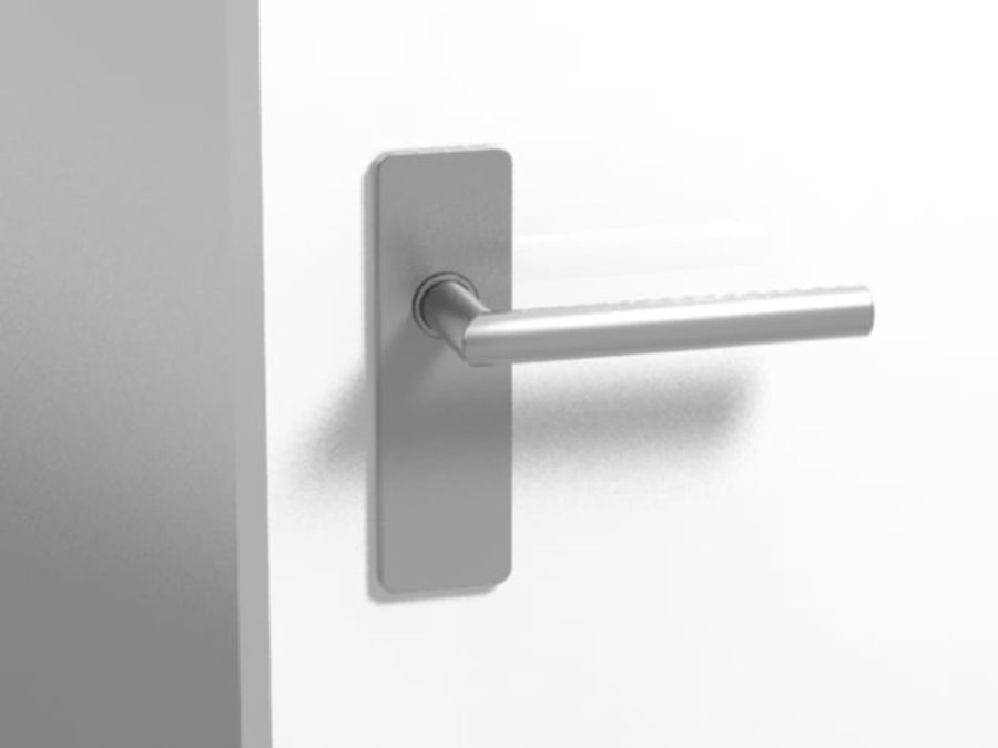 Simple door handle royalty-free 3d model - Preview no. 2