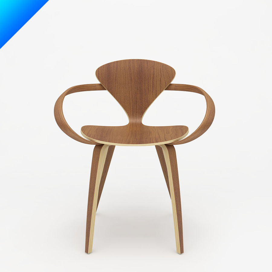 Norman Cherner Arm Chair Royalty Free 3d Model   Preview No. 1
