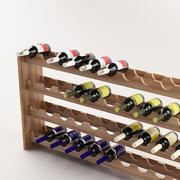 Bottles & shelf_04 3d model