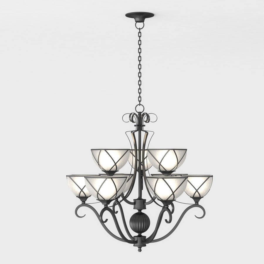 Iron Chandelier 3D Model $19 -  max  obj - Free3D