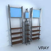 Vertical Retail Racks 3d model