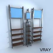 Vertical Retail Racks 3d model