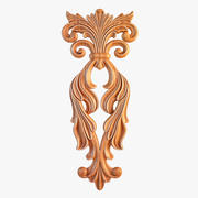 Carved Decorative Element 3d model