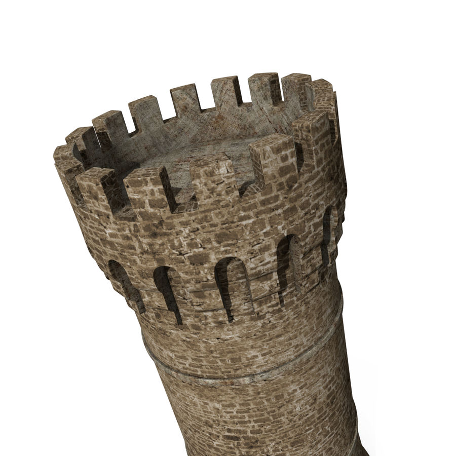 Medieval Castle Tower royalty-free 3d model - Preview no. 5