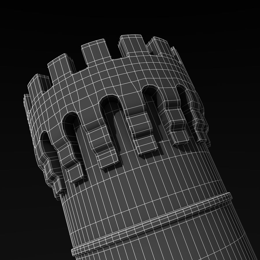 Medieval Castle Tower royalty-free 3d model - Preview no. 10