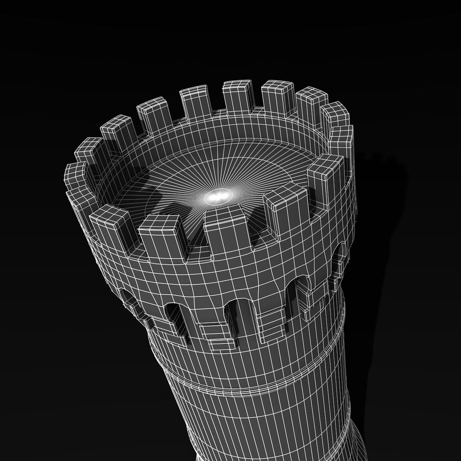 Medieval Castle Tower royalty-free 3d model - Preview no. 9
