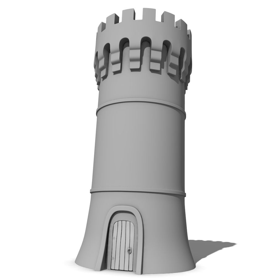 Medieval Castle Tower royalty-free 3d model - Preview no. 7