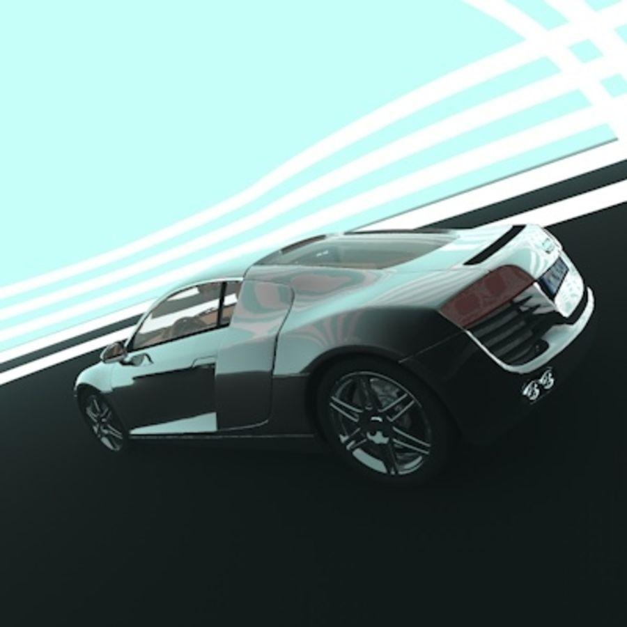 奥迪R8 royalty-free 3d model - Preview no. 5