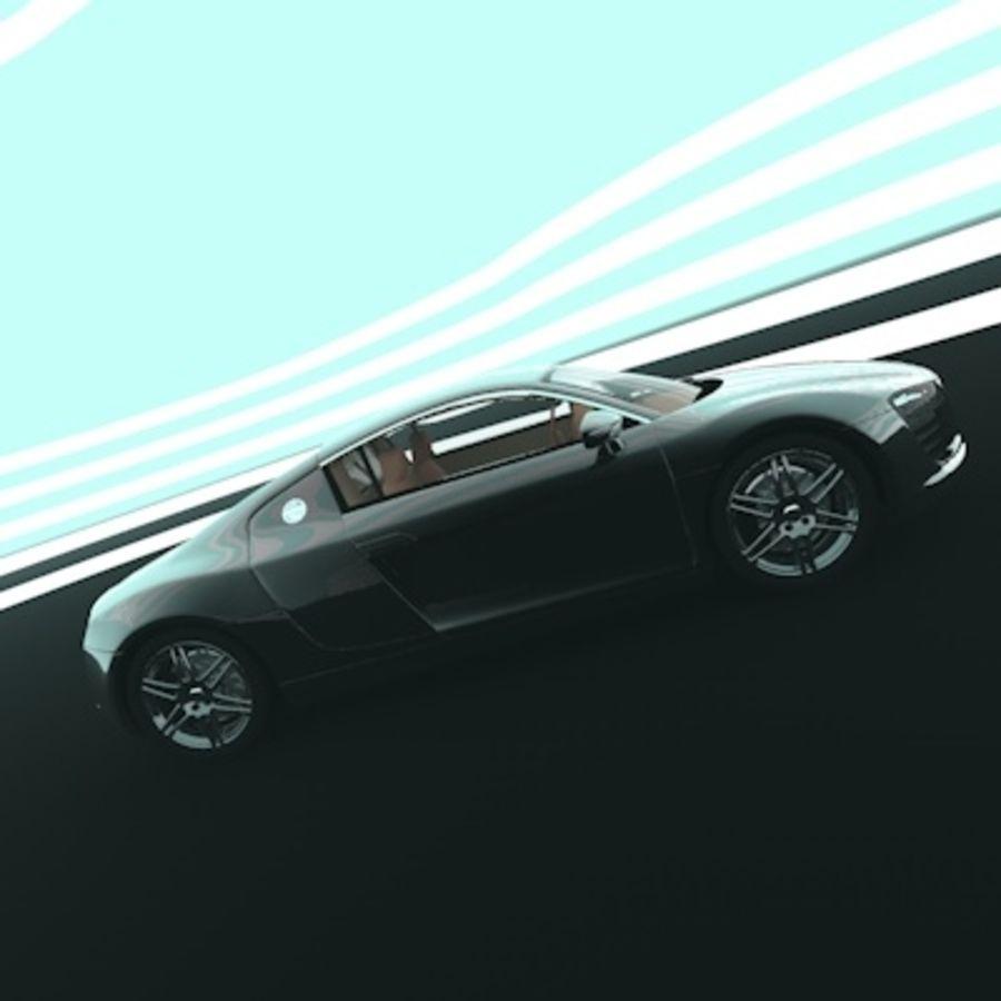 奥迪R8 royalty-free 3d model - Preview no. 2