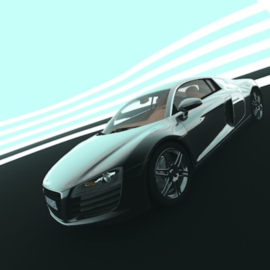 Audi R8 royalty-free 3d model - Preview no. 6