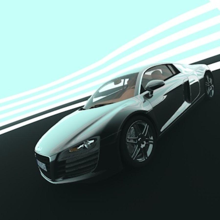 Audi r8 royalty-free 3d model - Preview no. 6