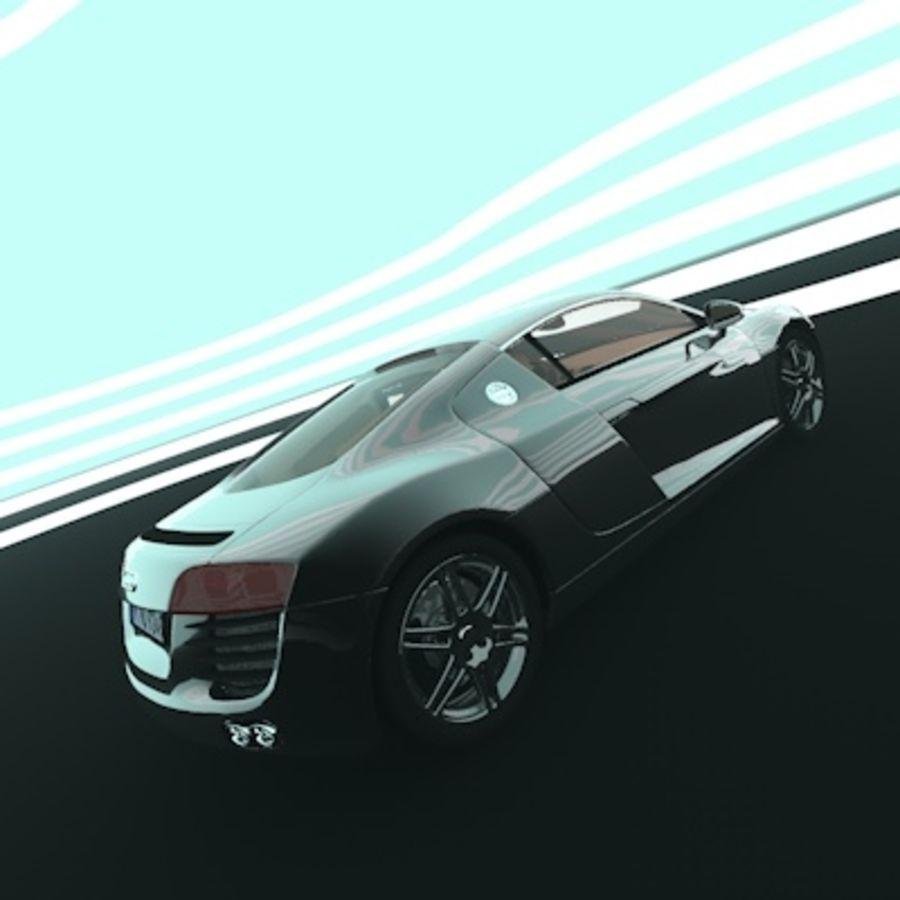 奥迪R8 royalty-free 3d model - Preview no. 3