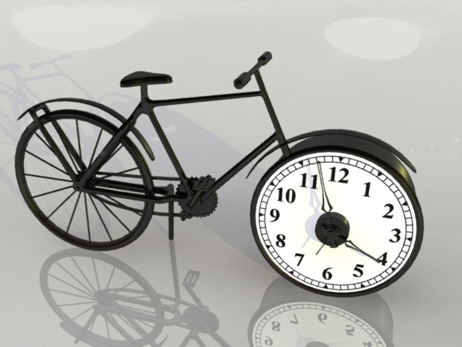 Bicycle Clock royalty-free 3d model - Preview no. 5