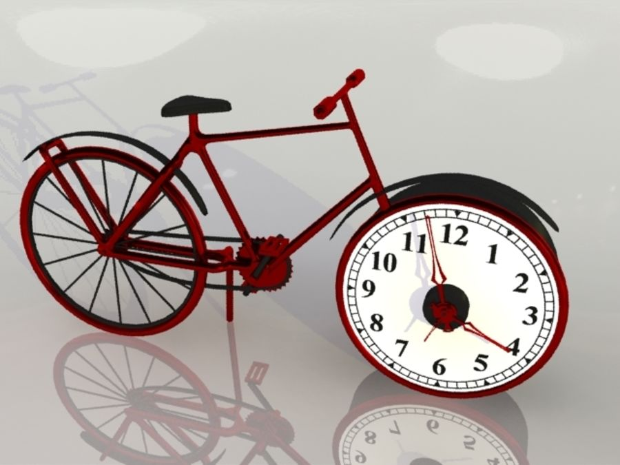 Bicycle Clock royalty-free 3d model - Preview no. 4