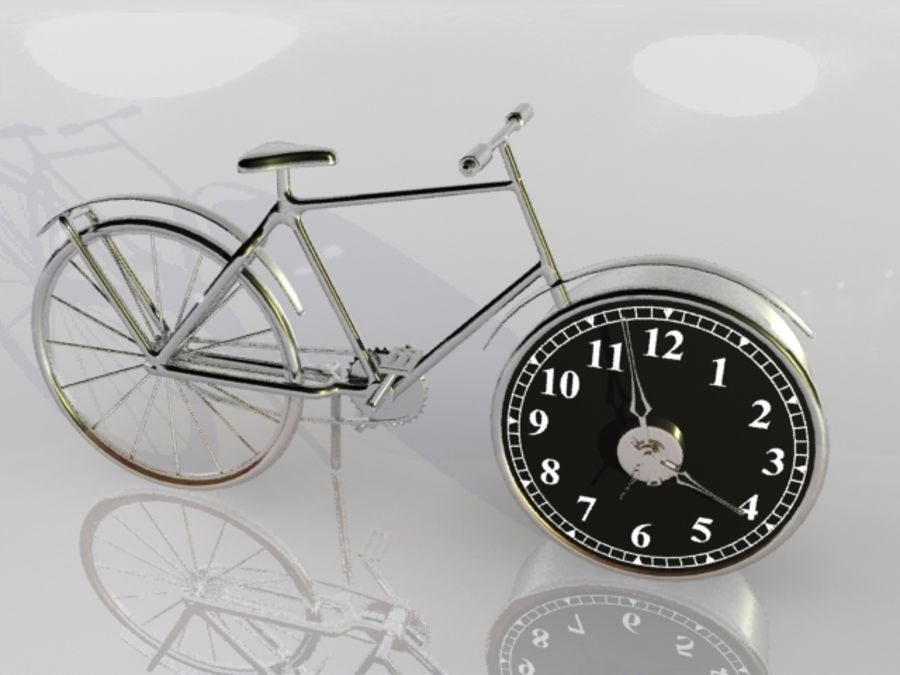 Bicycle Clock royalty-free 3d model - Preview no. 1