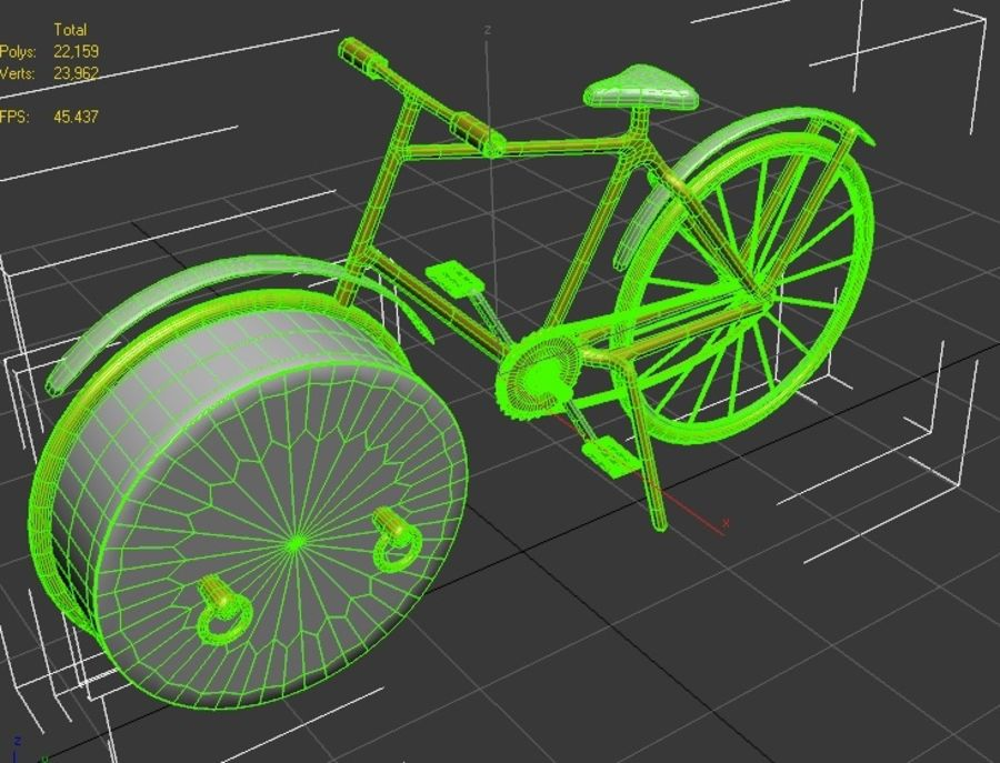 Bicycle Clock royalty-free 3d model - Preview no. 7