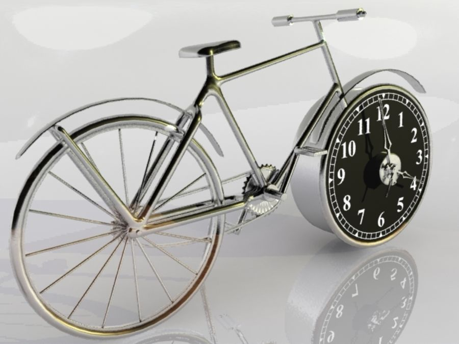 Bicycle Clock royalty-free 3d model - Preview no. 10