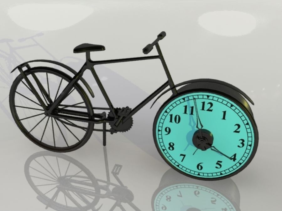 Bicycle Clock royalty-free 3d model - Preview no. 8