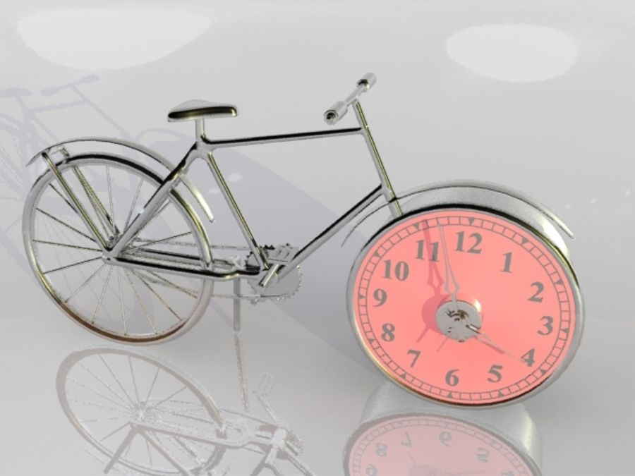 Bicycle Clock royalty-free 3d model - Preview no. 9