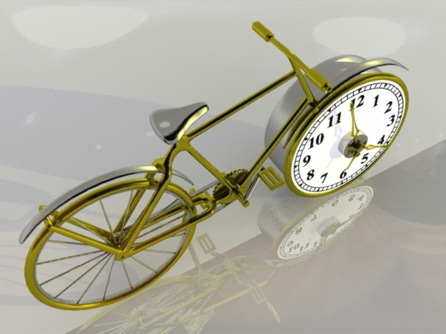 Bicycle Clock royalty-free 3d model - Preview no. 3