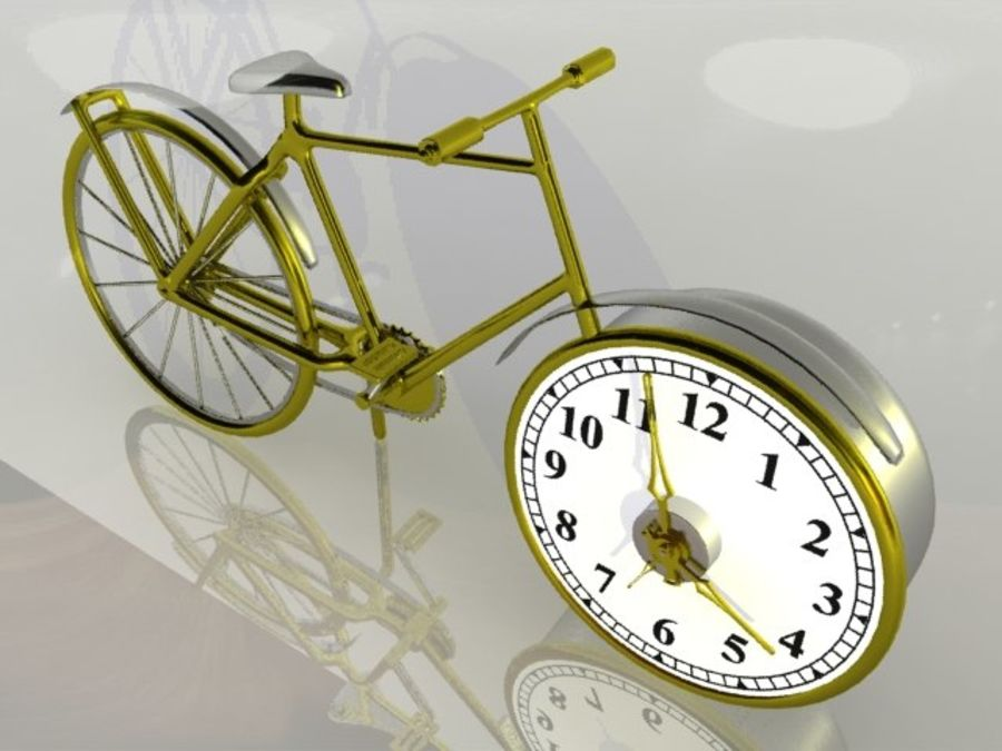 Bicycle Clock royalty-free 3d model - Preview no. 2