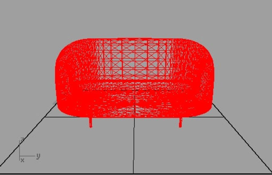 sapphire sofa furniture royalty-free 3d model - Preview no. 2