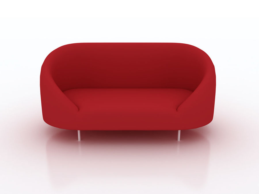 sapphire sofa furniture royalty-free 3d model - Preview no. 1