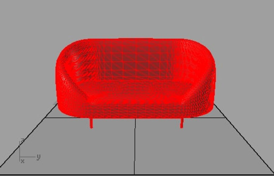 sapphire sofa furniture royalty-free 3d model - Preview no. 3