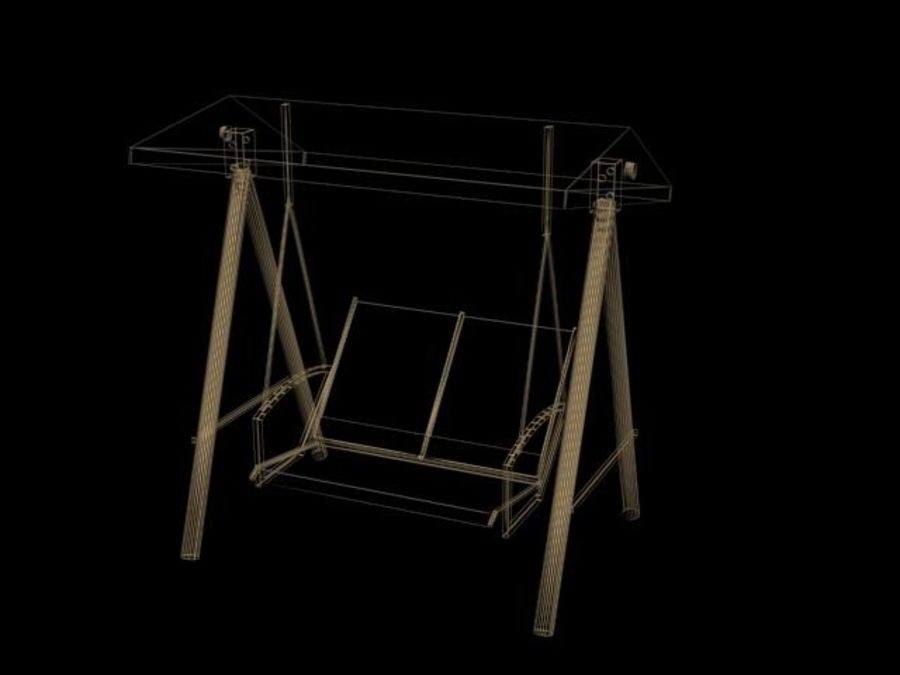Garden Swing royalty-free 3d model - Preview no. 5