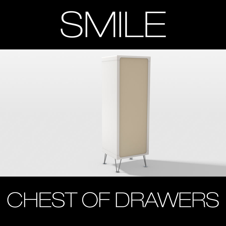SMILE CHEST OF DRAWERS royalty-free 3d model - Preview no. 5