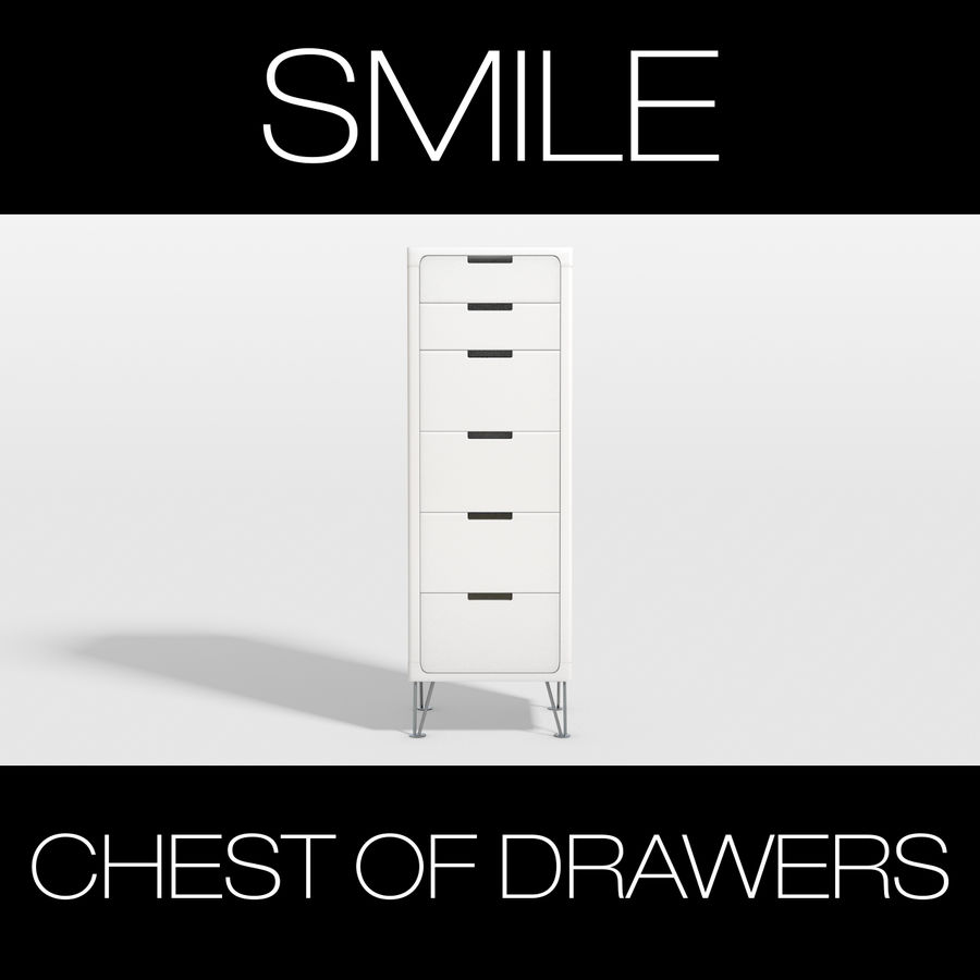 SMILE CHEST OF DRAWERS royalty-free 3d model - Preview no. 1