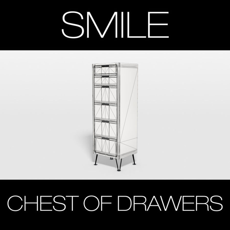 SMILE CHEST OF DRAWERS royalty-free 3d model - Preview no. 4