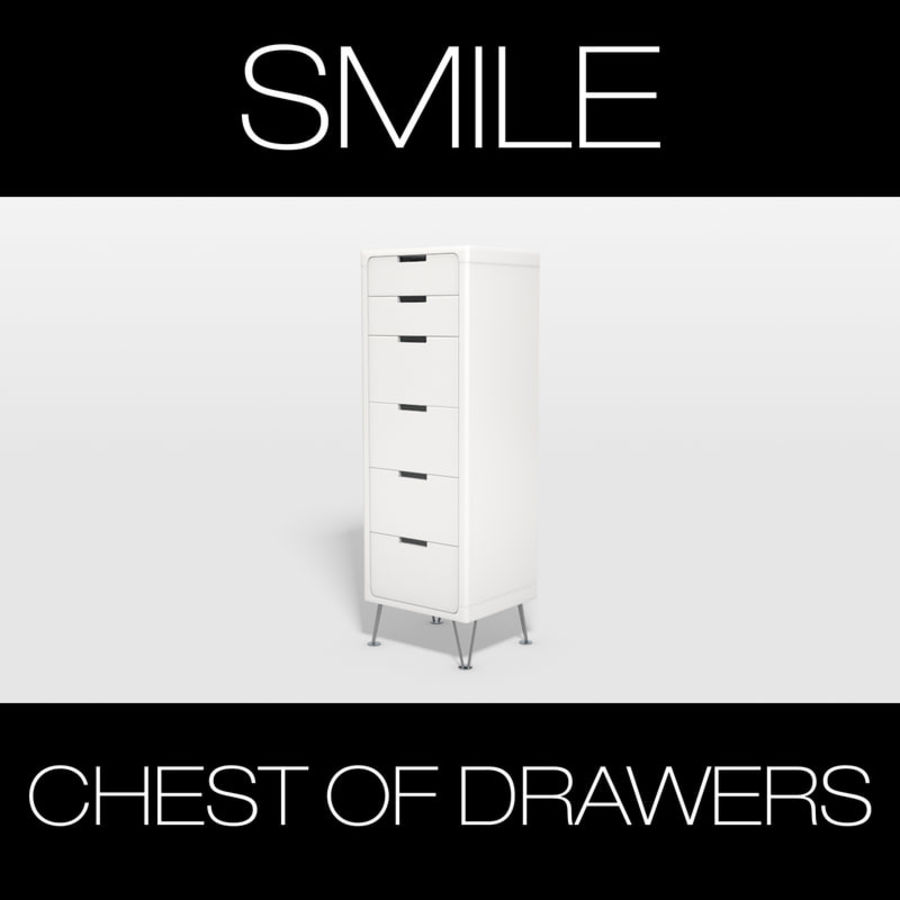 SMILE CHEST OF DRAWERS royalty-free 3d model - Preview no. 3
