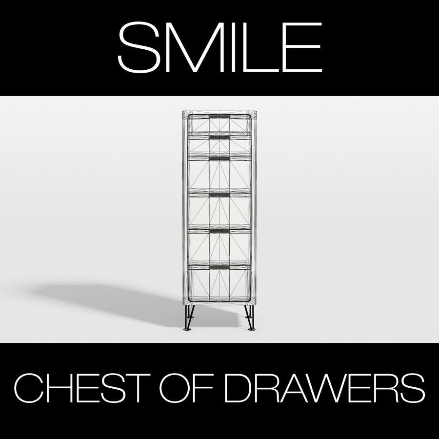 SMILE CHEST OF DRAWERS royalty-free 3d model - Preview no. 2