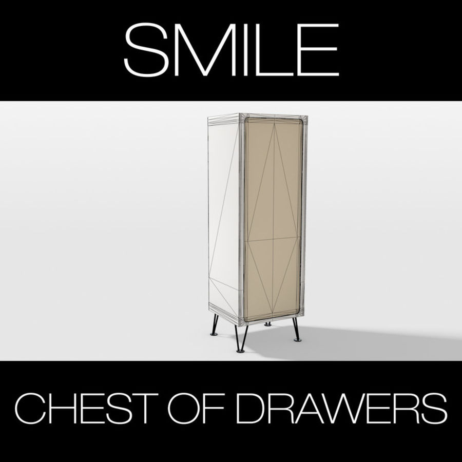 SMILE CHEST OF DRAWERS royalty-free 3d model - Preview no. 6