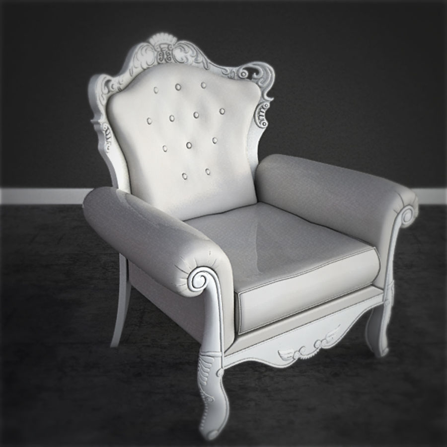 Poltrona barroca royalty-free 3d model - Preview no. 1