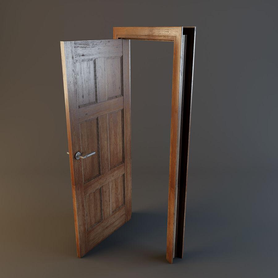 Door(11) royalty-free 3d model - Preview no. 5