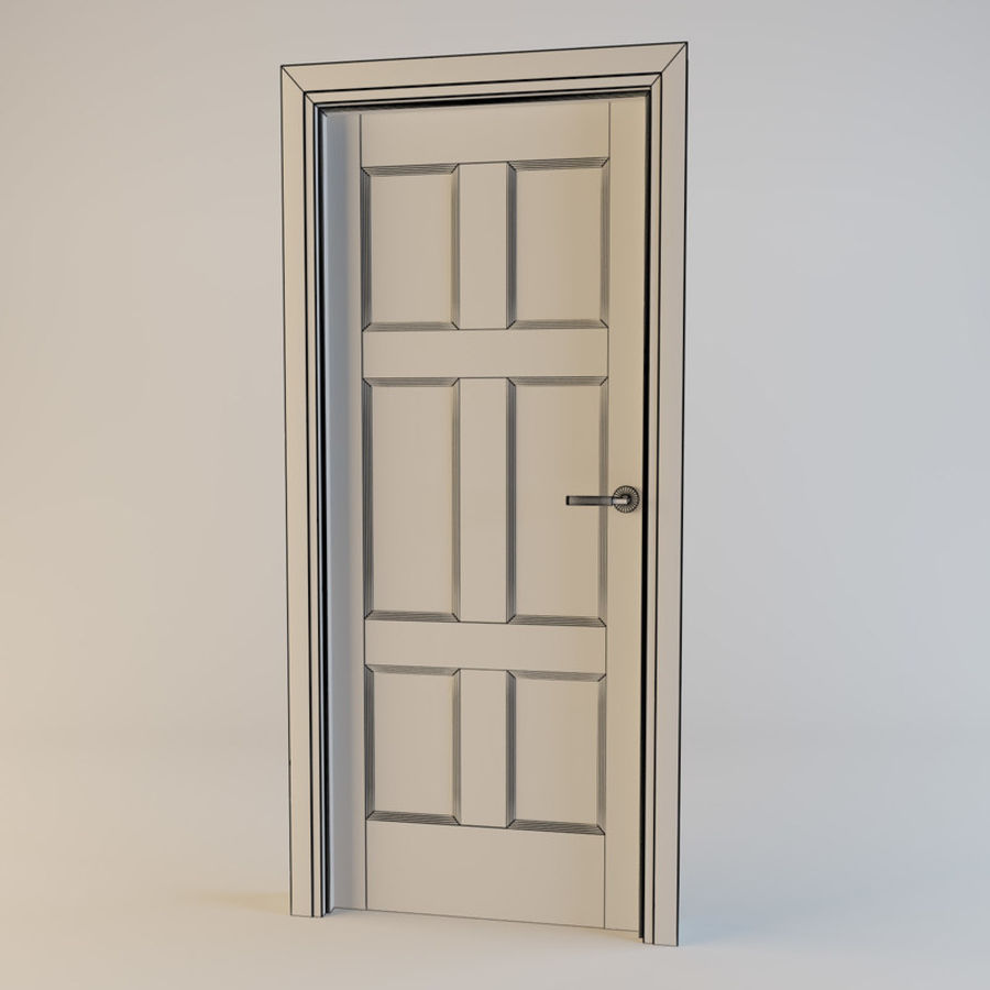 Door(11) royalty-free 3d model - Preview no. 2
