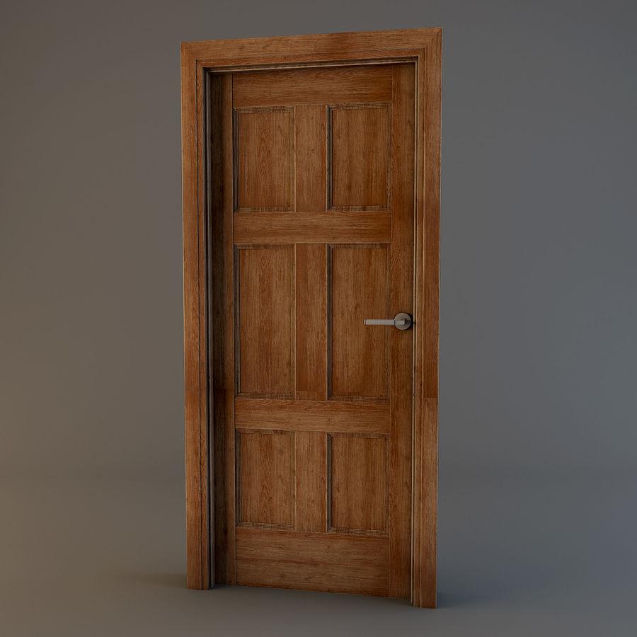 Door(11) royalty-free 3d model - Preview no. 1