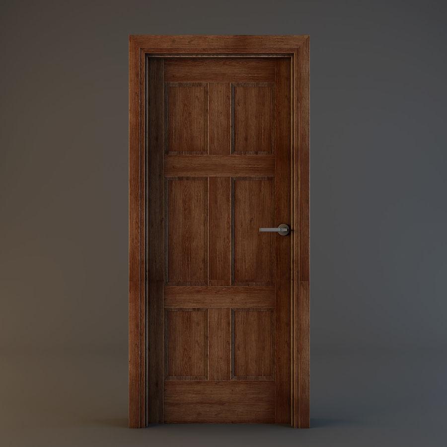 Door(11) royalty-free 3d model - Preview no. 3