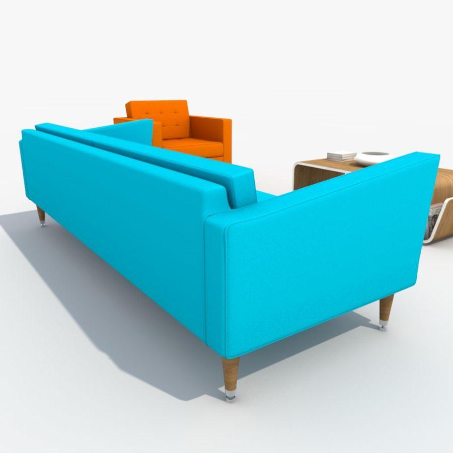 Sofa Furniture Set_Retro royalty-free 3d model - Preview no. 22