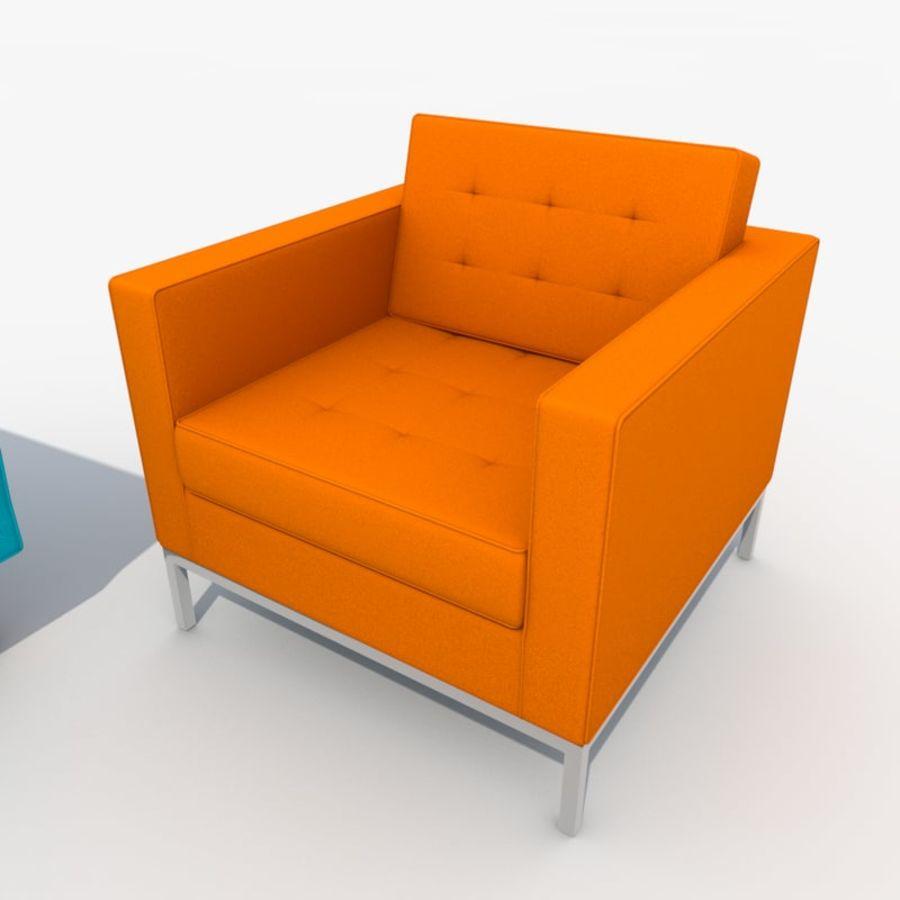 Sofa Furniture Set_Retro royalty-free 3d model - Preview no. 23