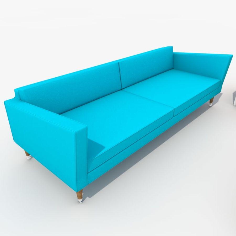 Sofa Furniture Set_Retro royalty-free 3d model - Preview no. 19
