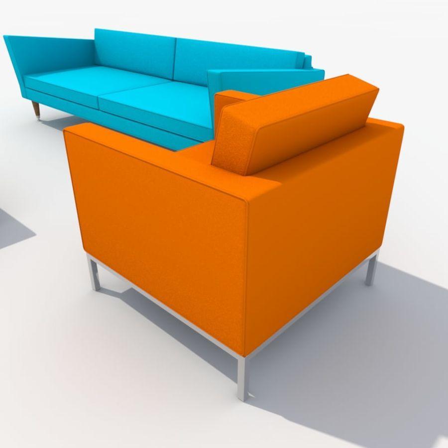 Sofa Furniture Set_Retro royalty-free 3d model - Preview no. 25