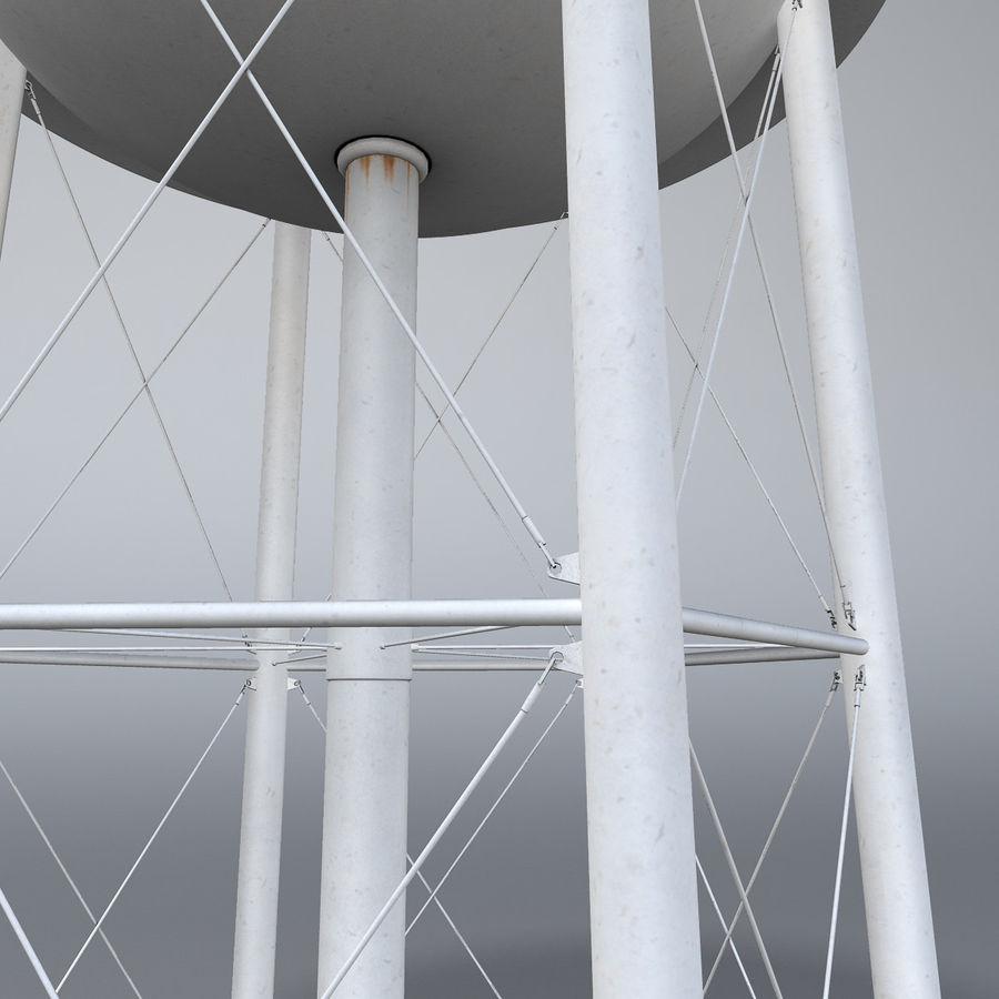 Water tower royalty-free 3d model - Preview no. 6