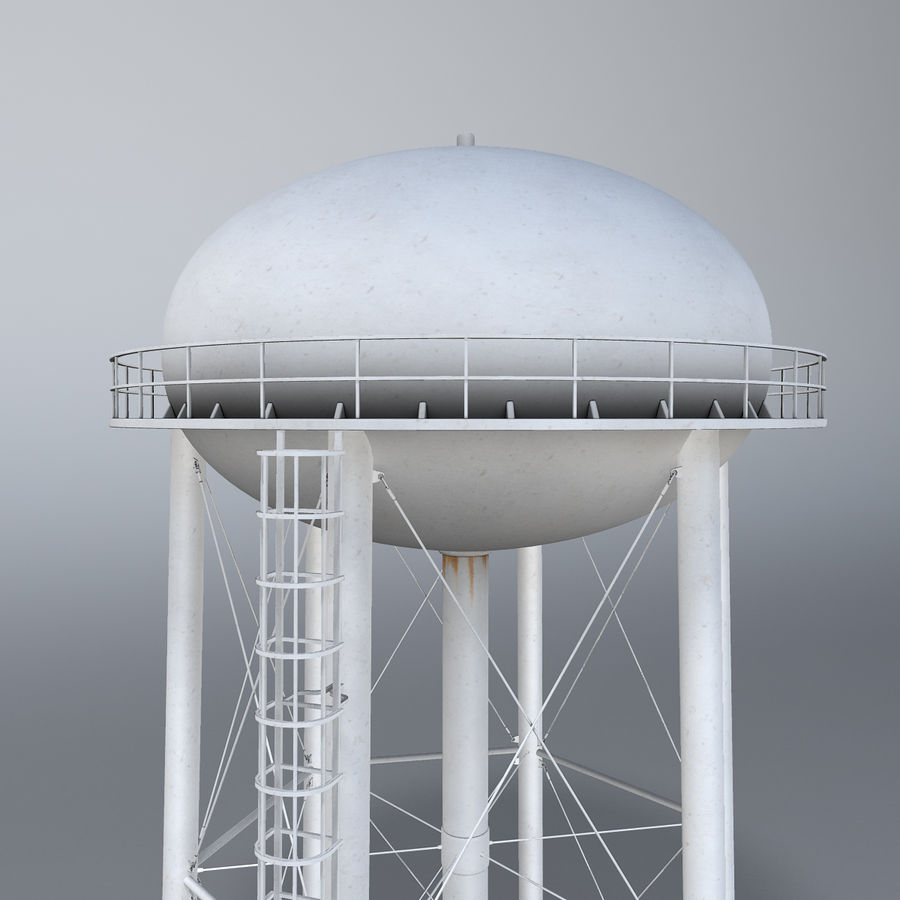 Water tower royalty-free 3d model - Preview no. 1
